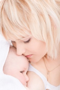 Nursing a baby girl